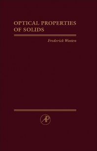 Optical Properties of Solids - 1st Edition - ISBN: 9780127634500, 9781483220765
