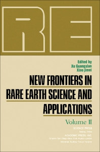 Cover image for New Frontiers in Rare Earth Science and Applications