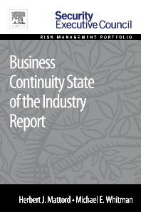 Business Continuity State of the Industry Report - 1st Edition - ISBN: 9780128008454, 9780128009093