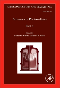Advances in Photovoltaics: Part 4 - 1st Edition - ISBN: 9780128010211, 9780128010686