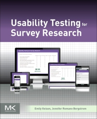 Usability Testing for Survey Research - 1st Edition - ISBN: 9780128036563, 9780128036815
