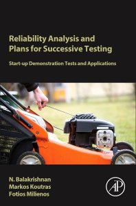 Cover image for Reliability Analysis and Plans for Successive Testing