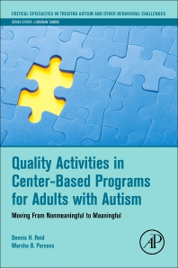 Cover image for Quality Activities in Center-Based Programs for Adults with Autism