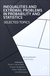 Cover image for Inequalities and Extremal Problems in Probability and Statistics