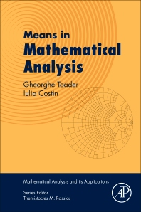 Cover image for Means in Mathematical Analysis