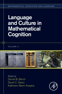 Language and Culture in Mathematical Cognition - 1st Edition - ISBN: 9780128125748, 9780128125755