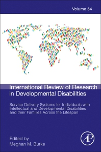 Cover image for Service Delivery Systems for Individuals with Intellectual and Developmental Disabilities and their Families Across the Lifespan