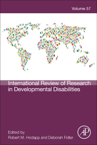 International Review of Research in Developmental Disabilities - 1st Edition - ISBN: 9780128171738, 9780128171745