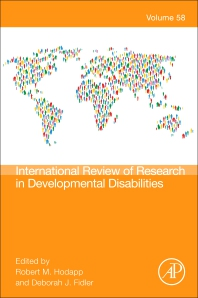 Cover image for International Review Research in Developmental Disabilities