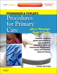 Pfenninger and Fowler's Procedures for Primary Care - 3rd Edition - ISBN: 9780323052672, 9780323259989