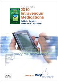 2010 Intravenous Medications - CD-ROM PDA Software