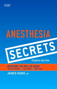 Cover image for Anesthesia Secrets