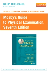 Physical Examination and Health Assessment Online for Mosby's Guide to Physical Examination (Access Code) - 7th Edition