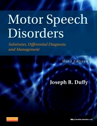 motor speech disorders 3rd edition joseph duffy isbn