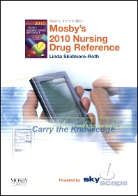 Mosby's 2010 Nursing Drug Reference - CD-ROM PDA Software, Powered by Skyscape