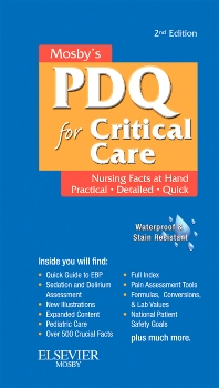 Mosby's Nursing PDQ for Critical Care - 2nd Edition - ISBN: 9780323074063