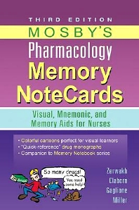 Mosby's Pharmacology Memory NoteCards - 3rd Edition - ISBN: 9780323078009, 9780323171878