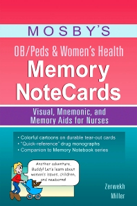 Cover image for Mosby's OB/Peds & Women's Health Memory NoteCards