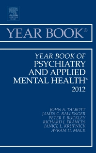 Cover image for Year Book of Psychiatry and Applied Mental Health 2012