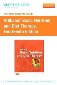 Nutrition Concepts Online for Williams' Basic Nutrition and Diet Therapy (Access Code) - 14th Edition - ISBN: 9780323112130