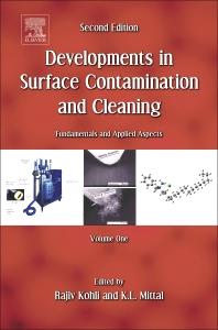 Developments in Surface Contamination and Cleaning, Vol. 1, 2nd Edition,Rajiv Kohli,Kashmiri L. Mittal,ISBN9780323299602