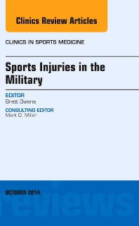 Cover image for Sports Injuries in the Military, An Issue of Clinics in Sports Medicine