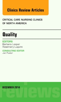 Cover image for Quality, An Issue of Critical Nursing Clinics of North America