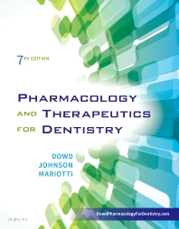 Cover image for Pharmacology and Therapeutics for Dentistry