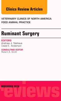 Cover image for Ruminant Surgery, An Issue of Veterinary Clinics of North America: Food Animal Practice