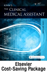 Cover image for Kinn's The Clinical Medical Assistant - Text + Study Guide + Virtual Medical Office for Medical Assisting package