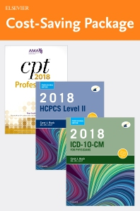 Cover image for 2018 ICD-10-CM Physician Professional Edition (Spiral bound), 2018 HCPCS Professional Edition and AMA 20178 CPT Professional Edition Package