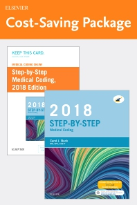 Cover image for Medical Coding Online for Step-by-Step Medical Coding, 2018 Edition (Access Code and Textbook Package)