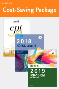 2019 ICD-10-CM Physician Edition, 2018 HCPCS Professional Edition and AMA 2018 CPT Professional Edition Package - 1st Edition - ISBN: 9780323636834