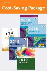 Step-by-Step Medical Coding 2018 Edition - Text, Workbook, 2019 ICD-10-CM for Physicians Edition, 2018 HCPCS Professional Edition and AMA 2018 CPT Professional Edition Package - 1st Edition - ISBN: 9780323636872