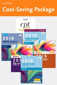 Step-by-Step Medical Coding 2018 Edition - Text, Workbook, 2019 ICD-10-CM for Hospitals Edition, 2019 ICD-10-PCS Edition, 2018 HCPCS Professional Edition and AMA 2018 CPT Professional Edition Package - 1st Edition - ISBN: 9780323636889