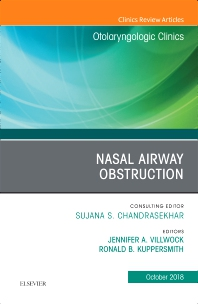 Cover image for Nasal Airway Obstruction, An Issue of Otolaryngologic Clinics of North America