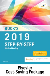 Cover image for Buck's Step-by-Step Medical Coding, 2019 Edition – Text and Workbook Package