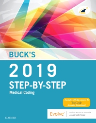 Cover image for Buck's Medical Coding Online for Step-by-Step Medical Coding, 2019 Edition (Access Code, Textbook and Workbook Package)