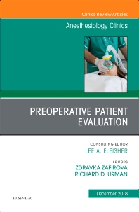 Cover image for Preoperative Patient Evaluation, An Issue of Anesthesiology Clinics
