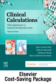 Drug Calculations Online for Kee/Marshall:  Clinical Calculations:  With Applications to General and Specialty Areas (Access Code and Textbook Package) - 9th Edition - ISBN: 9780323661638