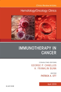 Cover image for Immunotherapy in Cancer, An Issue of Hematology/Oncology Clinics of North America