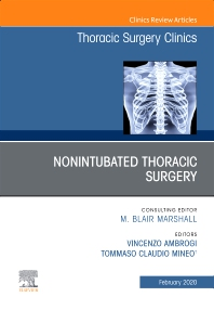 Cover image for Nonintubated Thoracic Surgery, An Issue of Thoracic Surgery Clinics