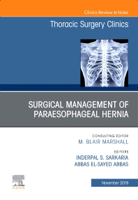 Cover image for Paraesophageal Hernia Repair,An Issue of Thoracic Surgery Clinics
