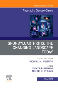 Cover image for Spondyloarthritis: The Changing Landscape Today, An Issue of Rheumatic Disease Clinics of North America