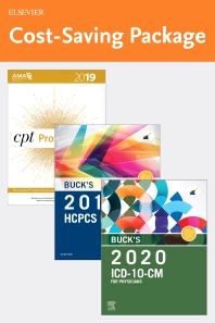 Buck's 2020 ICD-10-CM Physician Edition, 2019 HCPCS Professional Edition and AMA 2019 CPT Professional Edition Package - 1st Edition - ISBN: 9780323749466