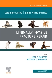 Cover image for Minimally Invasive Fracture Repair, An Issue of Veterinary Clinics of North America: Small Animal Practice