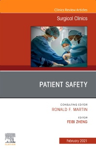 Cover image for Patient Safety, An Issue of Surgical Clinics