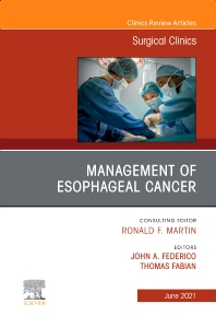 Cover image for Management of Esophageal Cancer, An Issue of Surgical Clinics