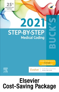 Cover image for Buck's Step-by-Step Medical Coding, 2021 Edition – Text and Workbook Package
