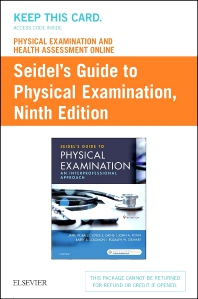 Physical Examination and Health Assessment Online for Seidel's Guide to Physical Examination (Access Code, and Textbook Package) - 9th Edition - ISBN: 9780323793490